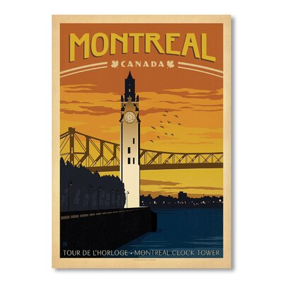 Americanflat Montreal by Anderson Design Group Vintage Advertisement Wrapped on Canvas