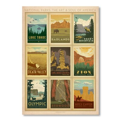 Americanflat NP Multi Print II by Anderson Vintage Advertisement Wrapped on Canvas