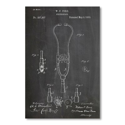 Americanflat Stethoscope by House of Borders Graphic Art in Grey