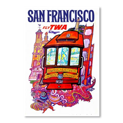 Americanflat San Francisco Fly by Chad Hyde Vintage Advertisement Wrapped on Canvas