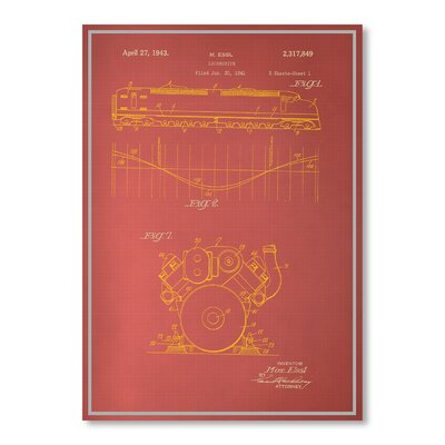 Americanflat Locomotive by Blue Print Images Graphic Art