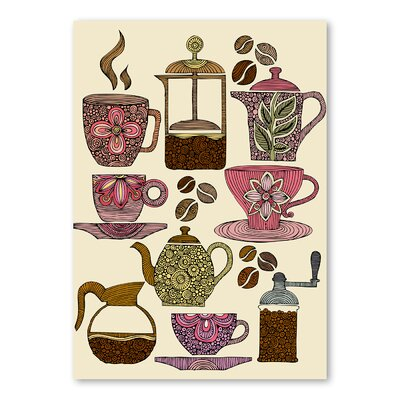 Americanflat Have Some Coffee by Valentina Ramos Graphic Art Wrapped on Canvas