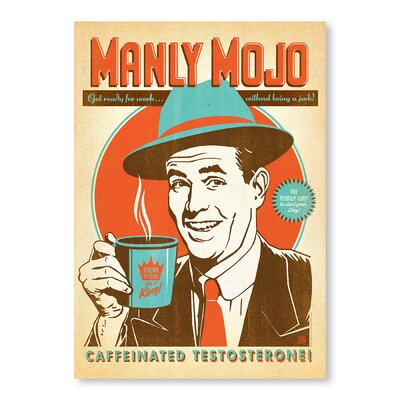 Americanflat Manly Mojo by Anderson design Group Vintage Advertisement Wrapped on Canvas