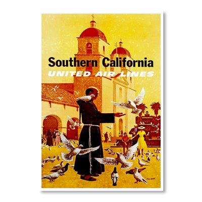 Americanflat South California by Chad Hyde Vintage Advertisement Wrapped on Canvas
