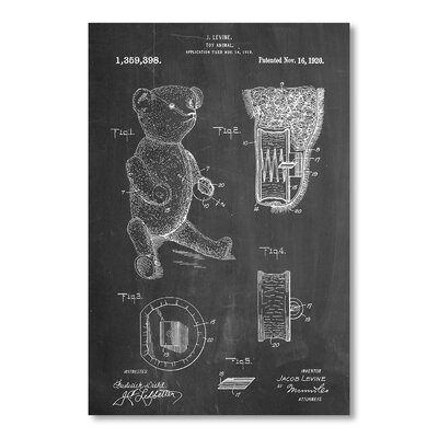 Americanflat Teddy Bear by House of Borders Graphic Art in Grey