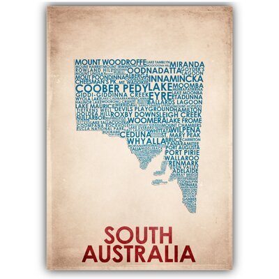 Americanflat South Australia Typography on Canvas