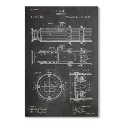 Americanflat Telescope by House of Borders Graphic Art in Grey