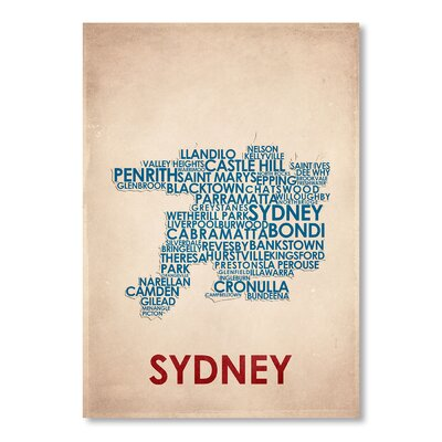 Americanflat Sydney Typography on Canvas