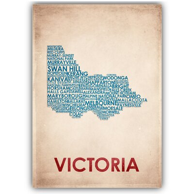 Americanflat Victoria Typography Wrapped on Canvas