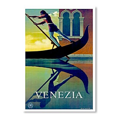 Americanflat Venezia by Chad Hyde vintage Advertisement on Canvas