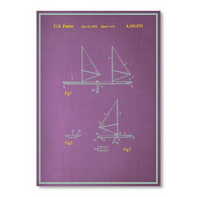 Americanflat Wind Surfboard Graphic Art on Canvas
