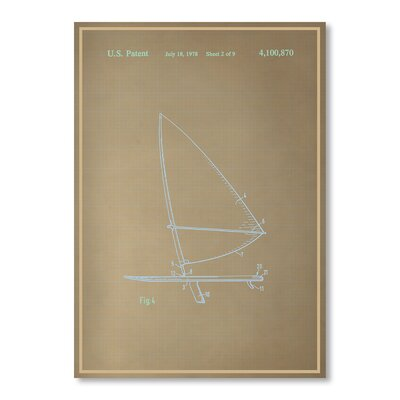 Americanflat Wind Surfboard II Graphic Art in Beige