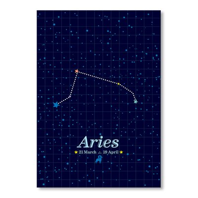 Americanflat Aries by Patricia Pino Graphic Art in Black
