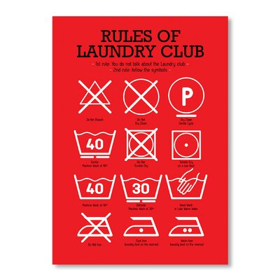 Americanflat Laundry Club by Patricia Pino Graphic Art in Red