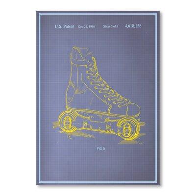 Americanflat Rollerskates Graphic Art in Purple