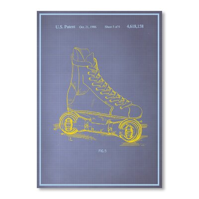 Americanflat Rollerskates Graphic Art on Canvas