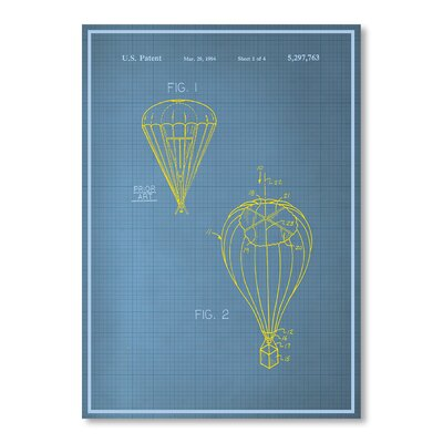 Americanflat Parachute Graphic Art Wrapped on Canvas