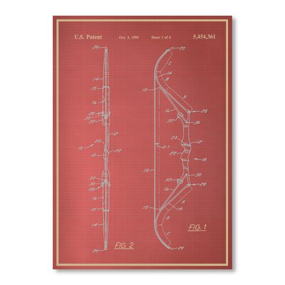 Americanflat Bow by Blue Print Images Graphic Art in Red