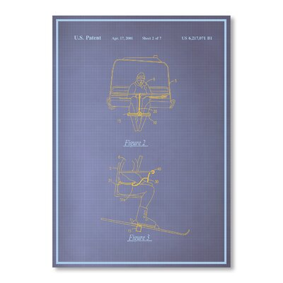 Americanflat Ski Lift by Blue Print Images Graphic Art in Purple