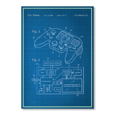 Americanflat Controller Graphic Art Wrapped on Canvas