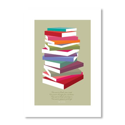 Americanflat Dr. Suess Books Pile by Liz Lyons Graphic Art Wrapped on Canvas