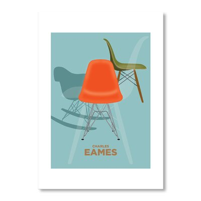 Americanflat Charles Eames II by Liz Lyons Graphic Art in Blue