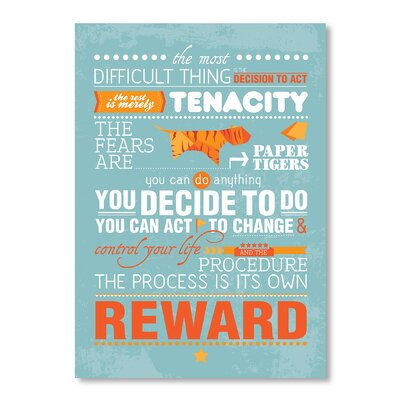 Americanflat Quote by Patricia Pino Typography Wrapped on Canvas