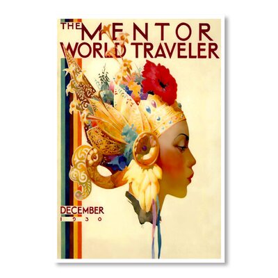 Americanflat World Traveler by Chad Hyde Vintage Advertisement Wrapped on Canvas