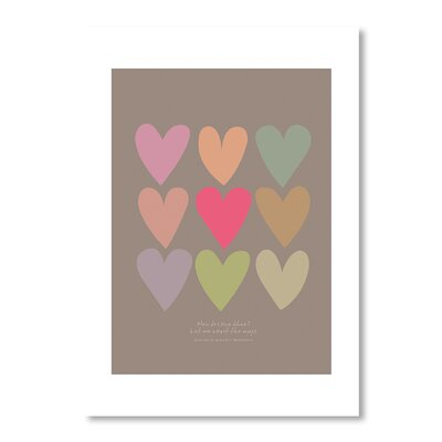 Americanflat Love Hearts by Liz Lyons Graphic Art in Brown