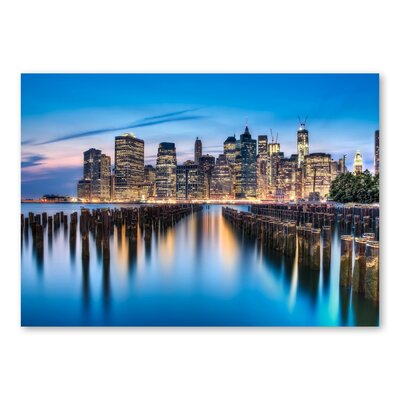 Americanflat Skyscrapers II by Lina Kremsdorf Photographic Print in Blue