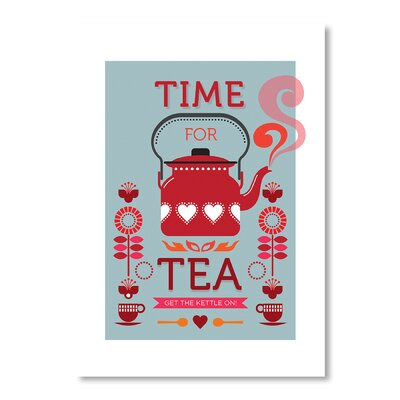 Americanflat Time for Tea by Liz Lyons Graphic Art on Canvas
