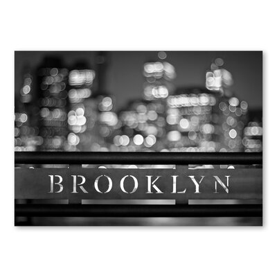 Americanflat Brooklyn by Lina Kremsdorf Graphic Art in Grey