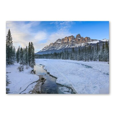 Americanflat Forest Snow III by Lina Kremsdorf Photographic Print in Blue