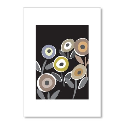 Americanflat Floripop Black by Liz Lyons Graphic Art Wrapped on Canvas