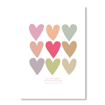 Americanflat Love Hearts by Liz Lyons Graphic Art Wrapped on Canvas