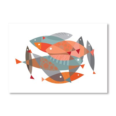 Americanflat Fishy Dishy by Liz Lyons Graphic Art Wrapped on Canvas