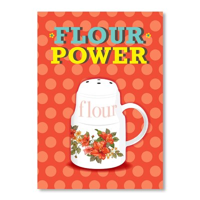 Americanflat Flour Power by Patricia Pino Vintage Advertisement in Red