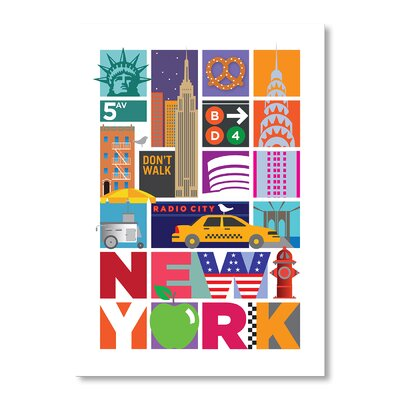 Americanflat New York by Liz Lyons Vintage Advertisement Wrapped on Canvas