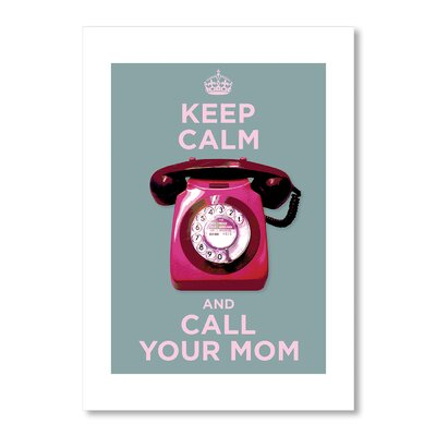 Americanflat Call Your Mom by Liz Lyons Graphic Art in Pink