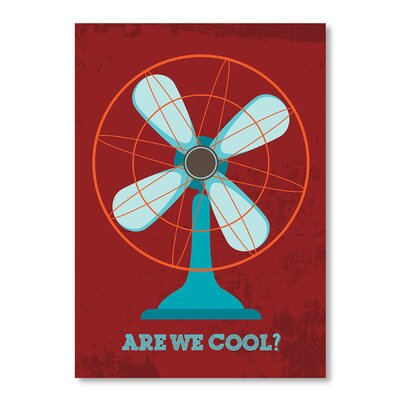 Americanflat Retro Fan by Patricia Pino Graphic Art Wrapped on Canvas