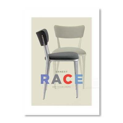 Americanflat Ernest Race Chair by Liz Lyons Graphic Art in Grey