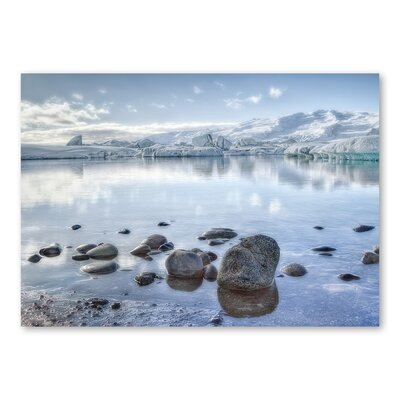 Americanflat Lake Snow by Lina Kremsdorf Photographic Print in Blue