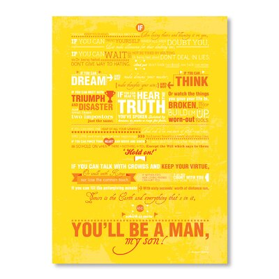 Americanflat If by Patricia Pino Typography Wrapped on Canvas