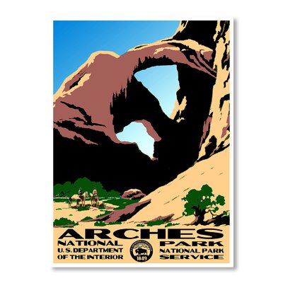 Americanflat Arches National Park by Chad Hyde Vintage Advertisement in Brown