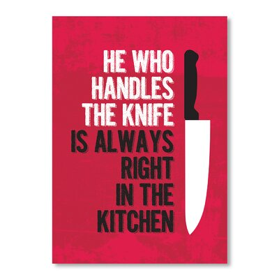 Americanflat Handle The Knife by Patricia Pino Graphic Art