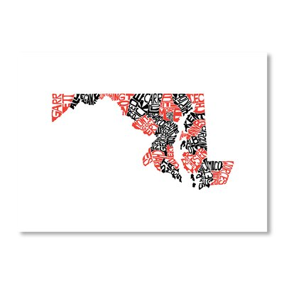 Americanflat Maryland by Crystal Capritta Typography on Canvas
