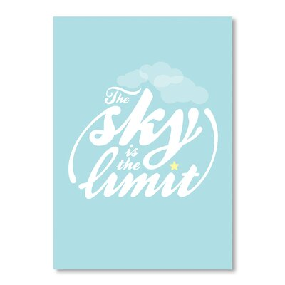 Americanflat Sky is the Limit by Patricia Pino Typography Wrapped on Canvas