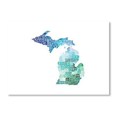 Americanflat Michigan Cool by Crystal Capritta Typography on Canvas