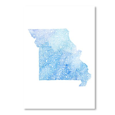 Americanflat Missouri by Crystal Capritta Typography on Canvas in Blue