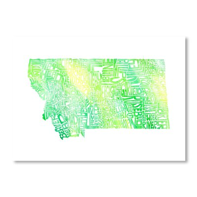 Americanflat Montana Water by Crystal Capritta Typography on Canvas in Green